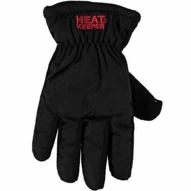 Thermo mega handschoenen zwart voor dames