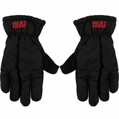 Thermo mega handschoenen zwart voor heren