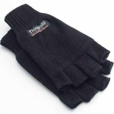 Thinsulate handschoenen zwart vingerloos