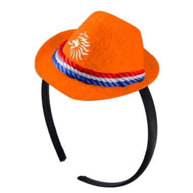 Tiara met oranje knvb hoedje
