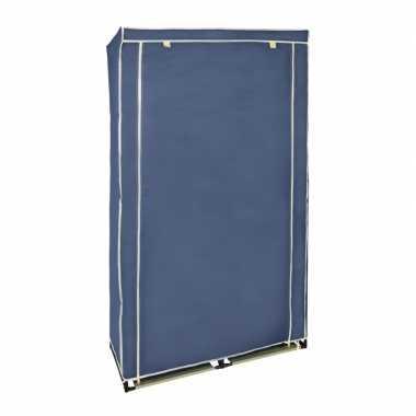 Tijdelijke kledingkast/garderobekast blauw met rits 169 cm