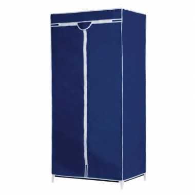 Tijdelijke mobiele kledingkast/garderobekast blauwe hoes met rits 160