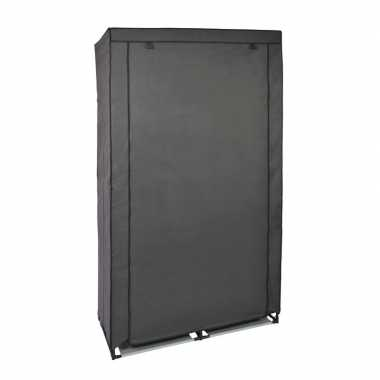 Tijdelijke mobiele kledingkast/garderobekast grijs met rits 169 cm