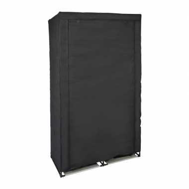 Tijdelijke mobiele kledingkast/garderobekast zwart met rits 169 cm