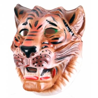Tijger masker bruin voor volwassenen