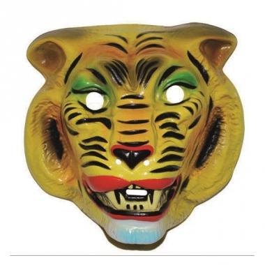 Tijger masker geel voor volwassenen