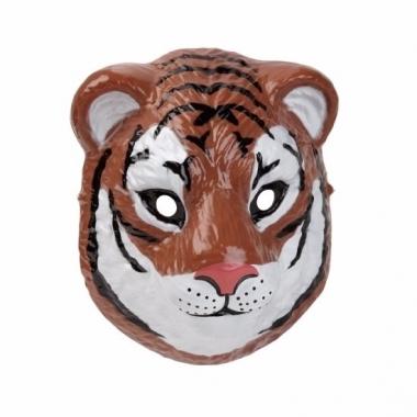 Tijger masker gemaakt van plastic 3d 22cm