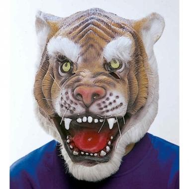 Tijger masker van latex