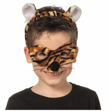 Tijger oogmasker met diadeem voor kids
