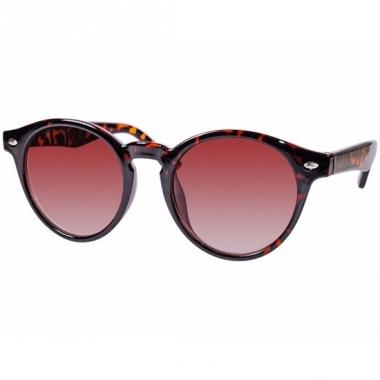 Tijgerprint fashion zonnebril rond model 7001