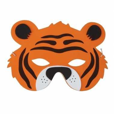 Tijgers foam masker voor kinderen
