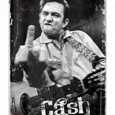 Tinnen plaat johnny cash 20 x 30 cm