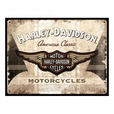 Tinnen plaatje harley davidson motorcycles 30 x 40 cm