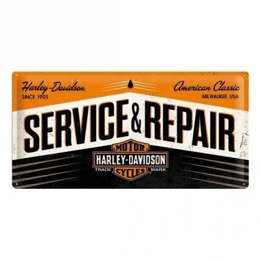 Tinnen plaatje service & repair 25 x 50 cm