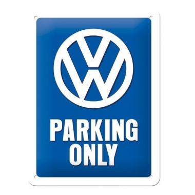 Tinnen plaatje volkswagen parking 15 x 20 cm