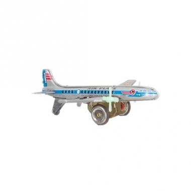 Tinnen vliegtuigje 18 cm