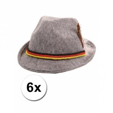 Tiroler hoedjes grijs 6x