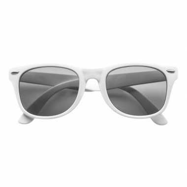 Toppers 2019 themafeest zonnebril wit voor dames/heren
