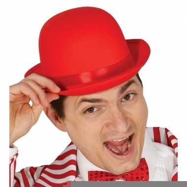Toppers 2019 verkleed hoed/bolhoed rood voor volwassenen