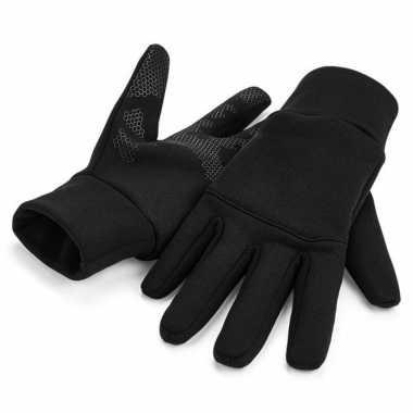 Touch screen handschoenen volwassenen zwart