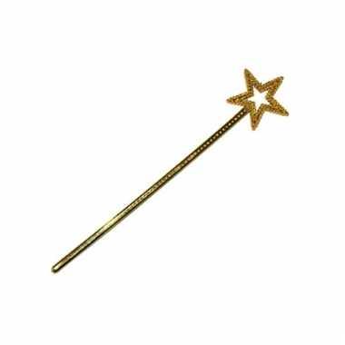 Toverstokje ster goud 36 cm