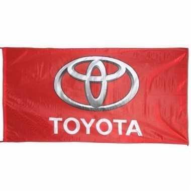 Toyota vlag rood 150 x 75 cm