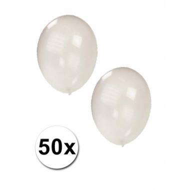 Transparante ballonnen 50 stuks