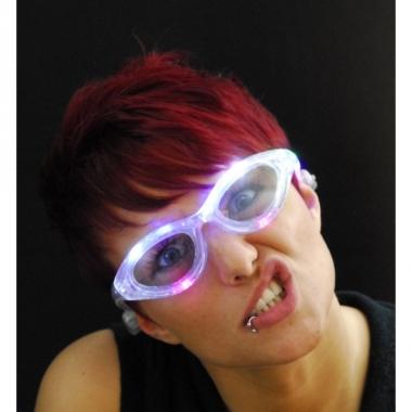 Transparante bril met led licht