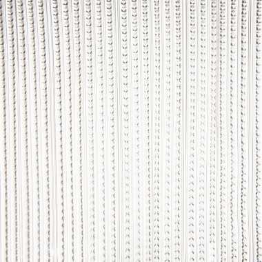 Transparante grijze deurgordijnen 93 x 220 cm