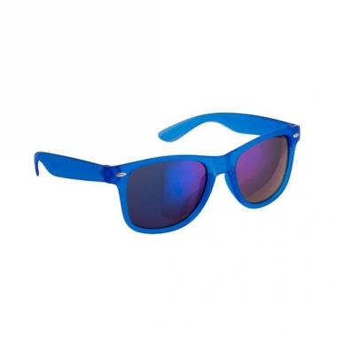 Trendy zonnebrillen blauw spiegelglas