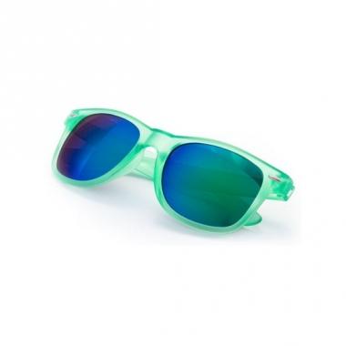 Trendy zonnebrillen groen spiegelglas