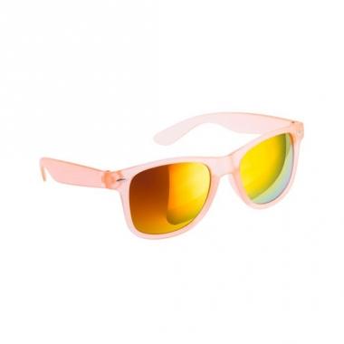 Trendy zonnebrillen oranje spiegelglas