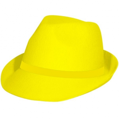 Tribly hoed in het neon geel