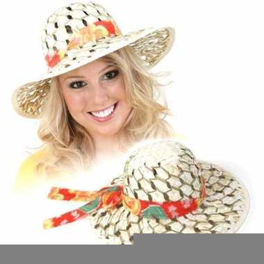 Tropische hoed met gaatjes