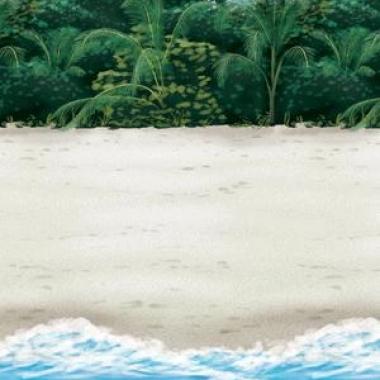 Tropische strand wanddecoratie 12,2 m