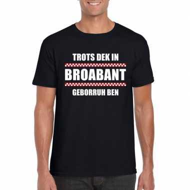 Trots dat ik in brabant geboren ben fun t-shirt voor heren zwart