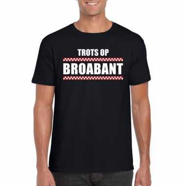 Trots op brabant fun t-shirt voor heren zwart