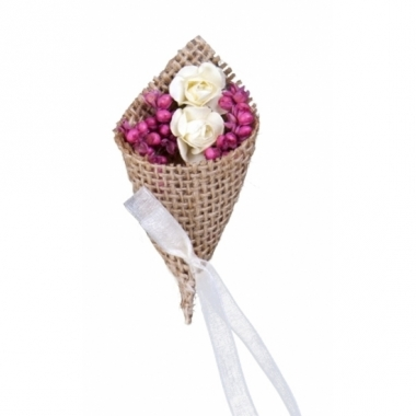 Trouwcorsages met jute 2x