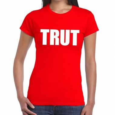 Trut fun t-shirt rood voor dames
