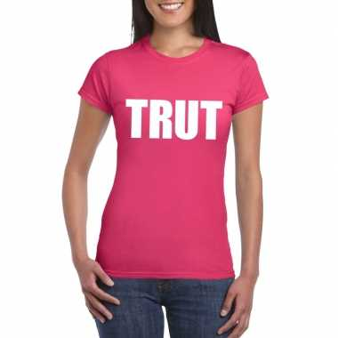 Trut fun t-shirt roze voor dames
