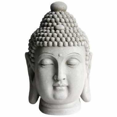 Tuinbeeld boeddha hoofd 41 cm