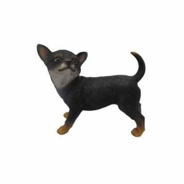 Tuinbeeld staande chihuahua zwart 22 cm