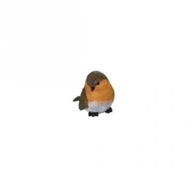 Tuinbeeldje roodborstje vogeltje 7 cm