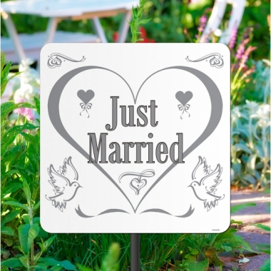 Tuinborden just married 44 cm