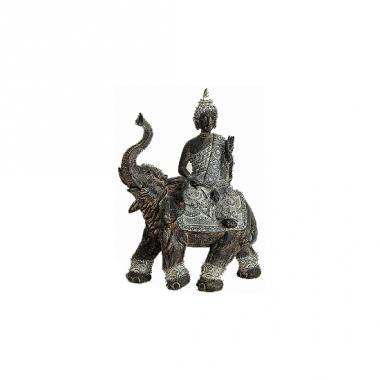 Tuindecoratie boeddha beeld grijs 29 cm