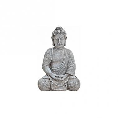 Tuindecoratie boeddha beeld grijs 30 cm