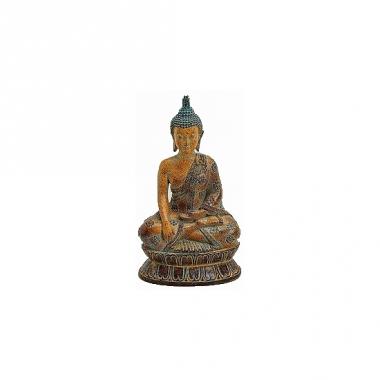 Tuindecoratie boeddha beeldje bruin 26 cm