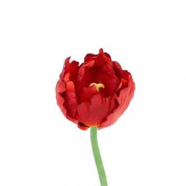 Tulp rood deluxe 25 cm kunstbloem