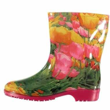 Tulpen motief regenlaarzen voor dames
