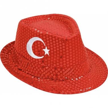 Turkije hoed met pailletten